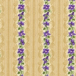 RJR Debbie Beaves Violet Wishes 472 002 Mini Border Stripe Dark Tan