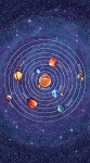 Stonehenge Out of This World 39153G 49 Dark Blue Planets Panel