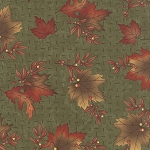 Maple Island 6611 15 Woodland Green Leaves, Holly Taylor by Moda