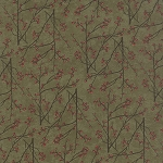 Maple Island 6612 15 Woodland Green Branches, Holly Taylor by Moda