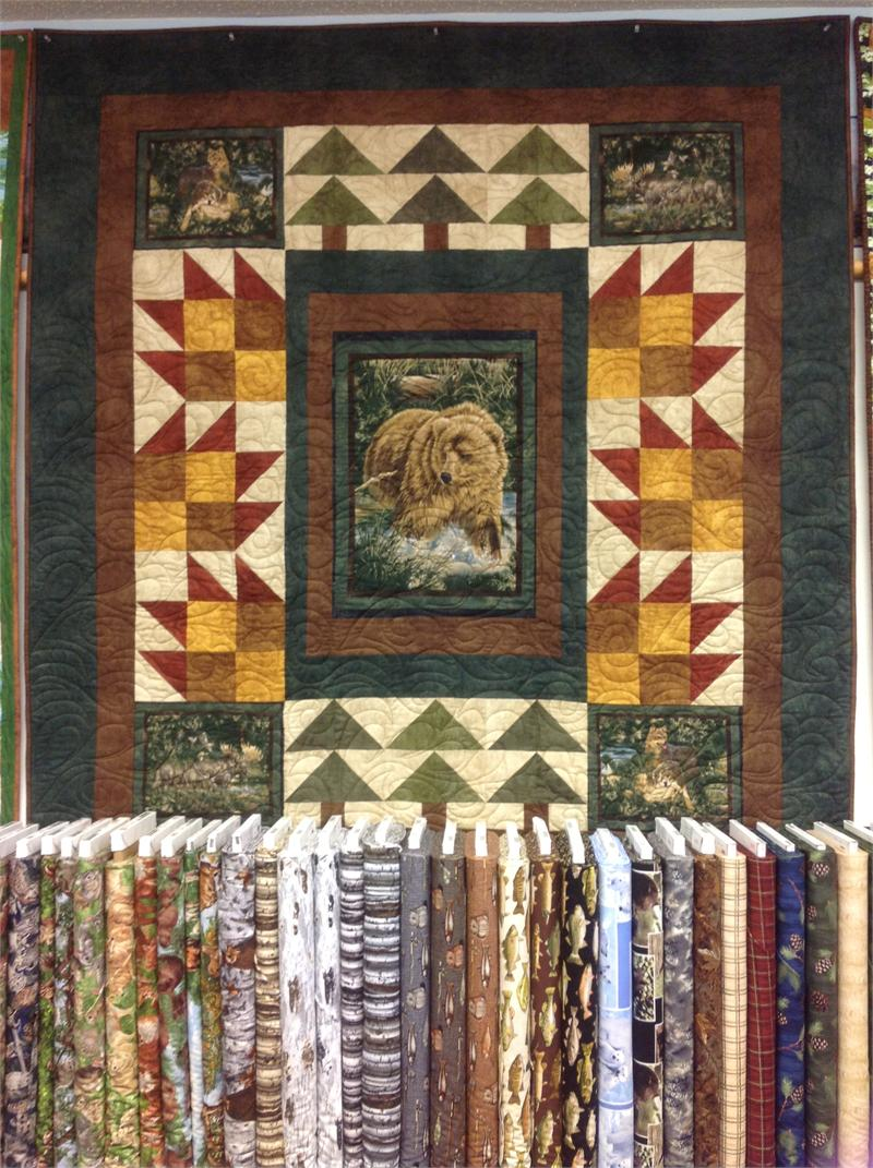Bear panel quilt kit maywood studio shadowplay hingeley road quilting - Quilt rits ...