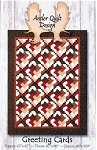 Greeting Cards Quilt Pattern, AQD0224 Antler Quilt Design