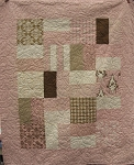 A Baby Cake Quilt Kit Block Option Sample - Pink