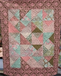 A Baby Cake Quilt Kit Block Option Sample - Spinning
