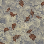 Birch Bark Lodge 6434 17 Blue Autumn Sky Floating Leaves Holly Taylor Moda