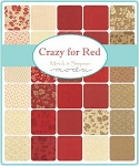 Crazy for Red Charm Pack,  Minnick and Simpson by Moda