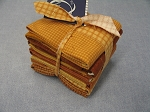 Fat 10 Your Stash Maywood Woolies Flannel Orange Golds Fat Quarter Bundle