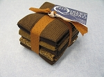 Fat 10 Your Stash Maywood Woolies Flannel Dark Brown Fat Quarter Bundle
