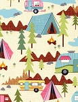 Fun-C2324-Cream Camping, Timeless Treasures