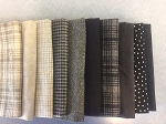 New Woolies Fat 10 Bundle Black/Grey, Maywood Studio Flannel