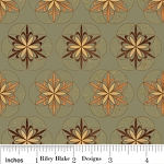 Back Country C2651 Green Damask Tiles, Riley Blake