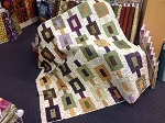 Lady Slipper Lodge Off Track Quilt Kit, Holly Taylor by Moda