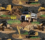 Caterpillar Machines 6004 Dump Truck Backhoe, Print Concepts