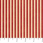 Mountain Lodge Flannel F20573 24 Stripe Red, Northcott