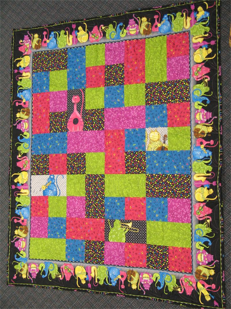 Phat cat baby cakes quilt kit w border print and panel hingeley road quilting - Quilt rits ...