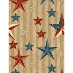 We the People 84387 234 Stars Tan, Wilmington Prints