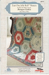 Just One Jelly Roll Quilt Pattern, Hexagon Garden