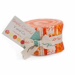 Simply Colorful June Jelly Roll Orange, V and Co by Moda