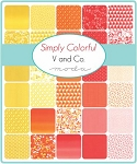 Simply Colorful Charm Pack, V & Company by Moda