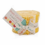 Simply Colorful June Jelly Roll Yellow, V and Co by Moda