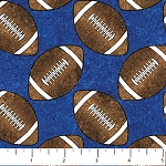 Stonehenge Kids Touchdown 20311-45 Blue Footballs, Northcott