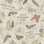 Quilt Minnesota 2016 Y1995 11 Light Khaki 10th Anniversary, Clothworks