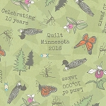 Quilt Minnesota 2016 Y1995 23 Light Olive 10th Anniversary, Clothworks