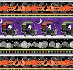 Fangtastic 1103G 91 Halloween Border Glow in the Dark, Henry Glass