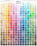 Watercolor Palette 1895 Digital Spectrum Print Panel, Hoffman
