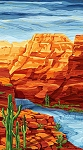 Artisan Spirit Sandscapes Canyon Cliffs Panel 21597M 58, Northcott