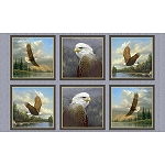 Majestic Eagles 24322 K Panel, Quilting Treasures