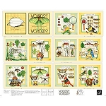Classic Storybooks Woodsy Wonders Book Panel 24780 X, Quilting Treasures