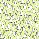 Camp S'More 25948 G Trees Light Green, Quilting Treasures