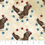 Stonehenge Stars and Stripes 39372 11 Cream Eagles, Northcott