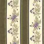 The Potting Shed 6621 13 Border Print Fern,  Holly Taylor by Moda