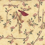 Cardinal Reflection Flannel 6640 11F Cream Cardinals, Holly Taylor by Moda