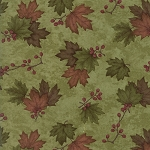Country Road 6668 23 Moss Green Maple Leaves, Holly Taylor by Moda