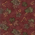 Country Road 6668 27 Barn Red Maple Leaves, Holly Taylor by Moda