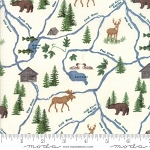 River Journey 6682 16 Cream Map, Holly Taylor by Moda