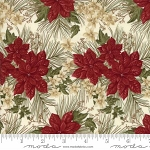 Forever Green 6691 12 Cream Poinsettia, Holly Taylor by Moda