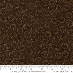 Forever Green 6695 19 Brown Circle Print, Holly Taylor by Moda