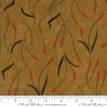 Fall Impressions Flannel 6703 12F Mustard Cattails, Holly Taylor by Moda