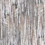 Into the Woods Flannel 8490F 07 Birch Taupe, Kanvas by Benartex