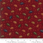 Oak Haven Mini Leaves 9522 13 Red, Kansas Troubles by Moda