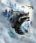 Call of the Wild Raccoon P4398 176 Ice, Hoffman Digital Panel
