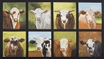 Down on the Farm 16512 268 Nature Cow Panel, Kaufman