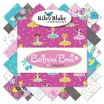 Ballerina and Bows C6954 Grey Baby Cakes Quilt Kit, Riley Blake