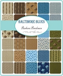 Baltimore Blues Charm Pack, Barbara Brackman by Moda