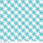 Glamperlicious C6312 Aqua Tablecloth Plaid, Riley Blake