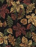 Autumn Leaves C4803 Black, Timeless Treasures